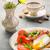 déjeuner · oeuf · grillé · lard · tomates · café - photo stock © markova64el