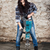 young long haired woman with a jackhammer stock photo © maros_b