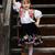boldog · kislány · áll · színes · legelő · gyermek - stock fotó © maros_b