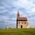 kerk · heuvel · oude · grasachtig · bewolkt · hemel - stockfoto © maros_b