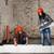 jovem · mulher · trabalhando · reparar · casa · velha · parede - foto stock © maros_b