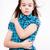 sír · fiatal · lány · kék · modern · kockás · póló - stock fotó © maros_b