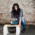 young long haired woman with a circular saw stock photo © maros_b