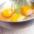 páscoa · ovos · mesa · de · madeira · salgueiro · metal · prato - foto stock © marylooo