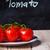 fresh tomatoes and blackboard stock photo © marylooo