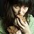 бедные · нищий · женщину · кусок · хлеб · портрет - Сток-фото © marylooo