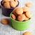 mandula · sütik · tálak · fából · készült · édes · cukor - stock fotó © marylooo