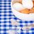 белый · коричневый · яйца · продовольствие · фон · шахматам - Сток-фото © marylooo