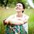 kız · taze · bahar · çim · genç - stok fotoğraf © marylooo