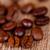 コーヒー豆 · 風化した · 木材 · 外に · 袋 · コーヒー - ストックフォト © marylooo