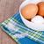 яйца · чаши · полотенце · деревенский · деревянный · стол - Сток-фото © marylooo