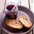 black currant jam in glass jar and crackers stock photo © marylooo