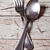 cuchara · de · madera · metal · tenedor · blanco - foto stock © marylooo