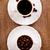 kettő · kávéscsészék · tele · mazsola · gyümölcs · háttér - stock fotó © marylooo