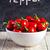 赤 · ホット · 唐辛子 · 木製 · ボウル · スペース - ストックフォト © marylooo