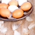 keramische · witte · kom · eieren · bruin · houten · tafel - stockfoto © marylooo
