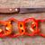 赤 · 鐘 · ピーマン · 素朴な · 木製のテーブル · 食品 - ストックフォト © marylooo