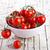 cereja · tigela · rústico · tabela · maduro · fresco - foto stock © marylooo
