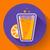 flat ice tea drink icon orange juice glass stock photo © marysan