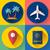 set of flat quality travel icons stock photo © marysan