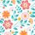 seamless flower pattern on white background ukrainian style stock photo © marysan