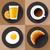 croissant · icon · cartoon · stijl · witte · koffie - stockfoto © marysan