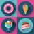 ayarlamak · doğum · günü · kekler · şeker · pasta · vektör · simgesi - stok fotoğraf © marysan