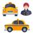 indian hindu taxi car driver icon set stock photo © marysan