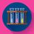set test tubes bubbling sparkling liquid icon flat 20 design style stock photo © marysan
