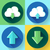 yeşil · bulut · simgesi · indir · dizayn · stil · web - stok fotoğraf © marysan
