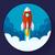 űr · rakéta · indulás · vektor · terv · stílus - stock fotó © marysan