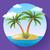 пальма · вектора · икона · изолированный · белый - Сток-фото © marysan