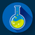 round chemical lab flask with liquid icon flat design style stock photo © marysan