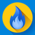 синий · огня · пламени · икона · вектора · логотип - Сток-фото © MarySan