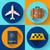 wakacje · podróży · transport · ikona · wektora - zdjęcia stock © marysan