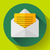 open envelope mail icon new letter message notification flat 20 design style stock photo © marysan