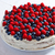 creamy sweet cake with blueberries and raspberries stock photo © marysan