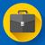 dark briefcase vector icon flat designed style stock photo © marysan