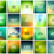 big set of 20 square blurred nature green backgrounds with various quotes stock photo © marysan
