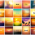 big set of 20 square blurred nature golden orange yellow red backgrounds with various quotes stock photo © marysan