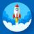 запуска · иллюстрация · ракета · облака · дизайна · стиль - Сток-фото © marysan