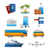 Realistic travel tourism icons set vector stock photo © MarySan