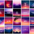 big set of 20 square blurred nature purple pink backgrounds with various quotes stock photo © marysan