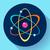 átomo · ícone · vetor · estilo · símbolo · azul - foto stock © marysan