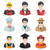 professions vector flat icons stock photo © marysan