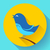bird singing vector icon flat design style stock photo © marysan