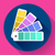 Color guide swatches palette - typographic fan icon. Flat design style. stock photo © MarySan