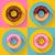 icon set cute sweet colorful chocolate donuts flat designed style stock photo © marysan