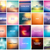 big set of 20 square blurred nature backgrounds with various quotes stock photo © marysan