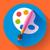 penseel · Blauw · vector · icon · ontwerp · digitale - stockfoto © marysan